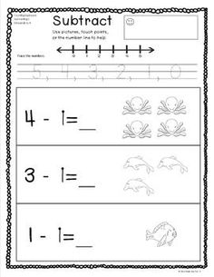 Printables Touch Math Subtraction Worksheets math worksheets and on pinterest basic subtraction set 1 very practice sheets that incorporate pictures number
