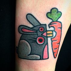 #quirky #rabbit#rabbittattoo#tattoo#ink#londontattooing#mrhydedoodler#carrot
