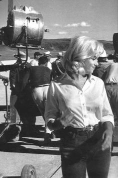 Marilyn Monroe on the set of The Misfits