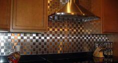 Different colors and patterns of ceramic tile backsplash