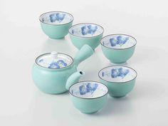 Tokyo Matcha Selection - [SUPER SALE] Arita-yaki Porcelain: Grape B - Kyusu Tea pot