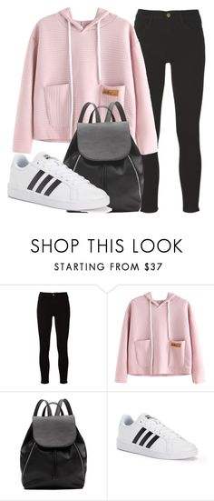 """Outfit #1680"" by lauraandrade98 on Polyvore featuring Frame, Witchery and adidas"
