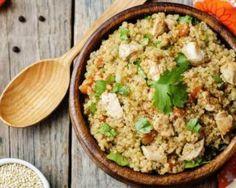 Quinoa rassasiant aux carottes et poulet : http://www.fourchette-et-bikini.fr/recettes/recettes-minceur/quinoa-rassasiant-aux-carottes-et-poulet.html