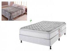 Cama Box (Box + Colchão) Casal Mola 138x188cm - Castor Sleep Basic Comfort + Cobertor Corttex com as melhores condições você encontra no Magazine Dalirali. Confira!