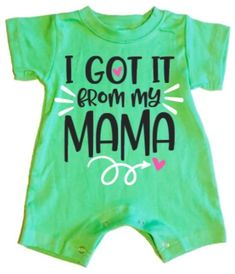 559393bcc99f I Got It From My Mama Baby Girl Summer Romper Cute Names