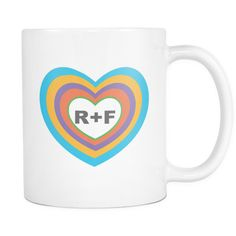 Rodan and Fields inside heart coffee mug 11oz also available in 15oz and custom This sturdy white, ceramic mug is an essential to your cupboard. This brawny version of ceramic mugs shows it's true col