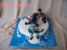 Ice Hockey  - HC Kometa Brno, CZ Hockey Cakes, Ice Hockey, Fondant, Cake Decorating, Birthday Cake, Food, Characters, Birthday Cakes, Essen