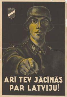 Latvia  WW2  SS Latvian legionnaires  Posted by Germany