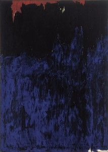 Clyfford Still November 1953 support: 114 x 81 1/2 inches. Albright-Knox Art Gallery