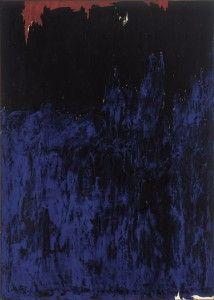 Clyfford Still November 1953 support: 114 x 81 1/2 inches. Albright-Knox Art Gallery
