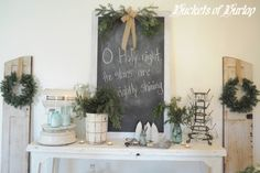 Greenery for the holidays eclectic dining room