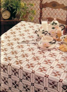 Magic crochet tablecloth  with diagram. I which we had this magazine again.....