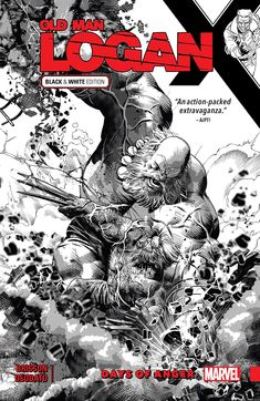 Wolverine: Old Man Logan Vol. Days of Anger - Black and White - Comics by comiXology Day Of Anger, Wolverine Old Man Logan, Comic Art, Comic Books, Black And White Comics, Dystopian Future, Mike Deodato, Old Men, Marvel Comics