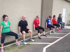 One of the worst exercises - wall sits!  Ugh!