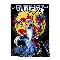 Blink 182 Happy Holidays 2015 Christmas Bunny Silkscreen Poster