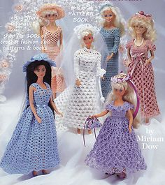 "Free Fashion Doll Crochet Patterns, download | Wedding Dresses"" Crochet Pattern Book Fits Barbie Fashion Doll See ..."