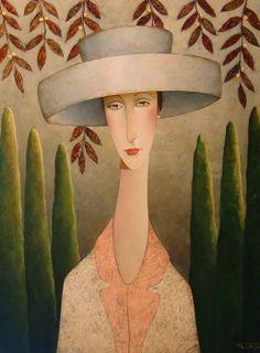"""Florence in Tuscany"", by Danny McBride (Canadian artist, b. Illustrations, Illustration Art, Danny Mcbride, Joe Cocker, Naive Art, Canadian Artists, Portrait Art, Figurative Art, Female Art"