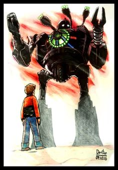 Iron Giant! - #12DailyDraw by BrokenHAX.deviantart.com on @DeviantArt