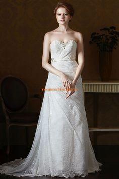 Eden Gold Label A-linie Glamouröse Dramatische Brautkleider aus Spitze