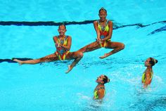 Singapore competes in the of the Synchronized Swimming Solo Technical preliminary round on day one of the 15th FINA World Championships at Palau Sant Jordi on July 20, 2013 in Barcelona, Spain.