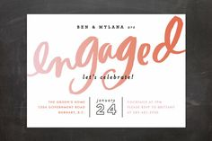 Gradient Script Engagement Party Invitations by Alethea and Ruth at minted.com