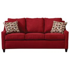 Sofa - Red. Also comes in Brown.