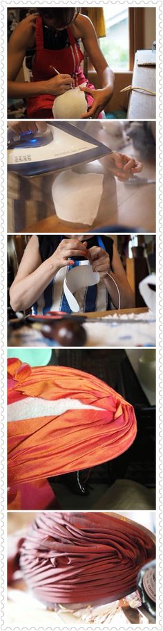 The Very Very Very Strict School of Millinery - Draping and pleating technique.