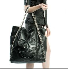 Phillip Plein Skull bag.  My version of the Chanel bag.  Wish it were smaller.  I haven't been able to find this in the US ;(