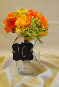 chalk escort tags (table #/name and guest name)