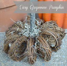 Lilacs and Longhorns: Easy Grapevine Wreath Pumpkin
