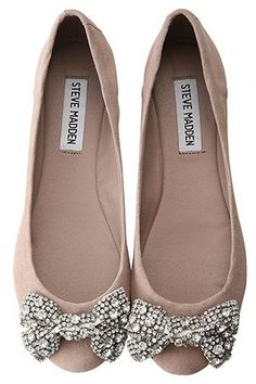 Steve Madden flats with sparkle bow. Yes please.
