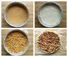 Sukkerfri snickers iskake - LINDASTUHAUG Peanut Butter, Food And Drink, Cooking Recipes, Snacks, Baking, Desserts, Tailgate Desserts, Appetizers, Bakken