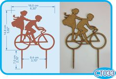 Bicycle cake topper. -Pedidos/Inquiries to: crearcjs@gmail.com