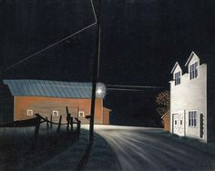 George Ault: Bright Light at Russell's Corners, 1946.