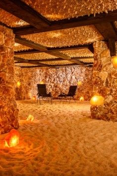 In Santa Barbara, California:  At Salt, we have two underground Himalayan salt caves for your use. Both are available for private bookings. Our larger cave is a quiet zone for adults and children over age 12. Salt cave sessions run for 45 minutes beginning on the hour, every hour.