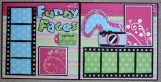 """Faith Abigail Designs: Whimsical Wednesday Design Team Post - """"Funny Faces"""" 12x12 Double Layout"""