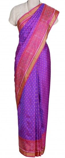 Purple Ikat Saree