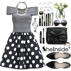 Sheinside by oshint on Polyvore featuring moda, Sam & Libby, Joomi Lim, Eddie Borgo, FOSSIL, Bling Jewelry, Lord & Berry, LSA International and Sheinside