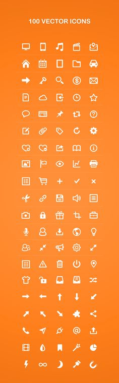 100 Vector Icons #icons #icon #download #pictogram #art #vector #photoshop #ramotion #dribbble #behance