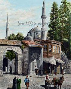 Istanbul, Sans Art, Middle Eastern Art, Old Street, Turkish Art, Islamic Architecture, Baghdad, Naive Art, Arabian Nights