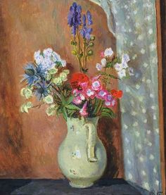 View Delphiniums in a Cream Jug by Vanessa Bell on artnet. Browse upcoming and past auction lots by Vanessa Bell. Vanessa Bell, Dora Carrington, Flower Vases, Flower Art, Virginia Woolf, Bell Art, Post Impressionism, Magazine Art, Beautiful Paintings