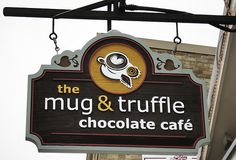 Cafe: mug & cookie. that's us. :P but we are not that sophisticated - no truffles patisserie