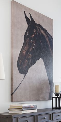 A horse symbolizes an appetite for freedom. Portray that with the Statley Picture. Shop online now. #LivingSpaces