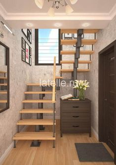 Stairs for the house of Yoshkar-Ola. Spiral Stairs Design, Railing Design, Staircase Design, Loft Stairs, House Stairs, Modern Stairs, Interior Stairs, Apartment Design, House Plans
