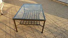 mesa ratona en hierro y vidrio Outdoor Furniture, Outdoor Decor, Dining Table, Home Decor, Ideas, Iron, Furniture, Home, Decoration Home