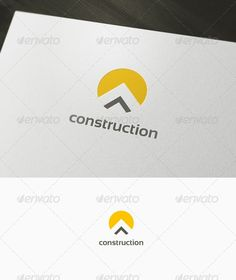 Construction Logo: Abstract Logo Design Template created by domibit. Bauunternehmen Logo, Logo Branding, Branding Design, Construction Company Logo, Construction Logo Design, Building Logo, Logo Design Template, Logo Templates, Visual Identity