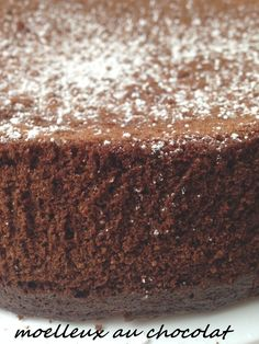 Fluffy chocolate gourmand (well inflated and airy) - Food - Gateau Chocolat Fluffy Chocolate Cake, Dessert Restaurants, Deviled Eggs Recipe, Pastry Cake, Coco, Cake Recipes, Sweet Tooth, Food And Drink, Sweets