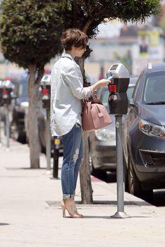 Lily Collins - Heads to a nail salon in LA 05/29/2015