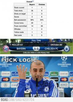 20 corner kicks 0 goal, 1 corner kick 1 goal. F**k Logic