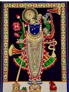 shrinathji photo - Results For Image Search results Tanjore Painting, Krishna Painting, Shree Krishna, Krishna Art, Pichwai Paintings, Lord Murugan, Dark Wallpaper Iphone, Lord Krishna Images, Goddess Lakshmi